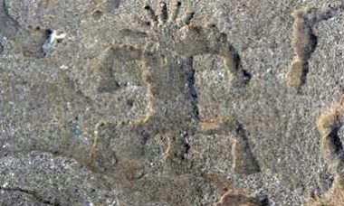 Petroglyph on Oahu North Shore