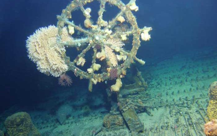 Pearl Harbor Underwater : Sunken wwii ship famed for pearl harbor rescue mission
