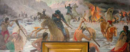 Bear River Massacre mural