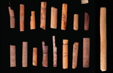 dice and sticks from cave 1 utah
