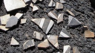 Pueblo-ceramic-on-New-Mexico-lava-flow-featured