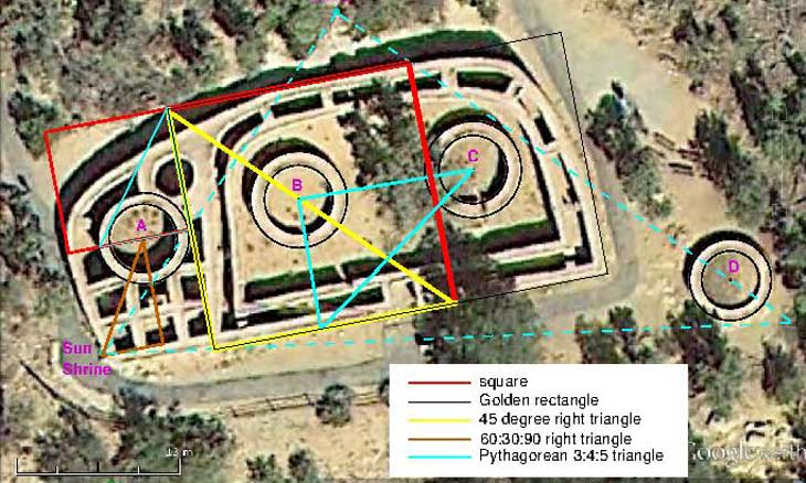 Mesa verdes sun temple reveals geometrical genius physicist says an 800 year old ceremonial complex near the famous cliff dwellings of mesa verde was built using the same basic geometry found in ancient monuments from malvernweather Image collections