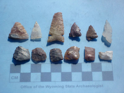Numic projectile points from Wind River Range, Wyoming