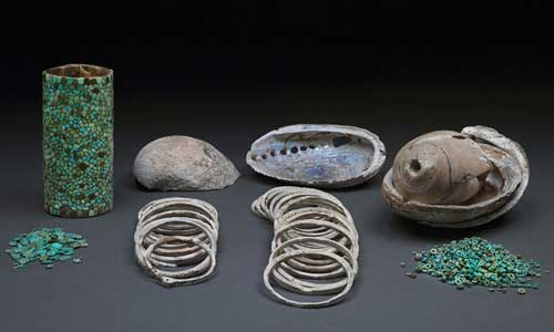 Chaco-burial-turquoise jewelry